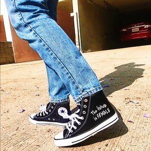 Chuck Taylor Converse size 7W . Custom Edition